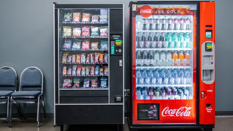 use the return change button to get quarters at vending machines